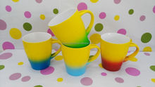 two tone colors ceramic mugs for coffee