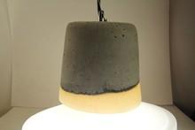 china supplier simple style modern concrete pendant lamp/concrete pendant light large of cong