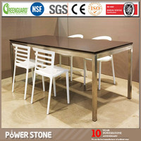 Engineered Quartz Stone, Kitchen Table Top, Long Narrow Dining Table