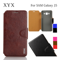 newest arrival high quality flip leather case cover for j5, for j5 mobile phone