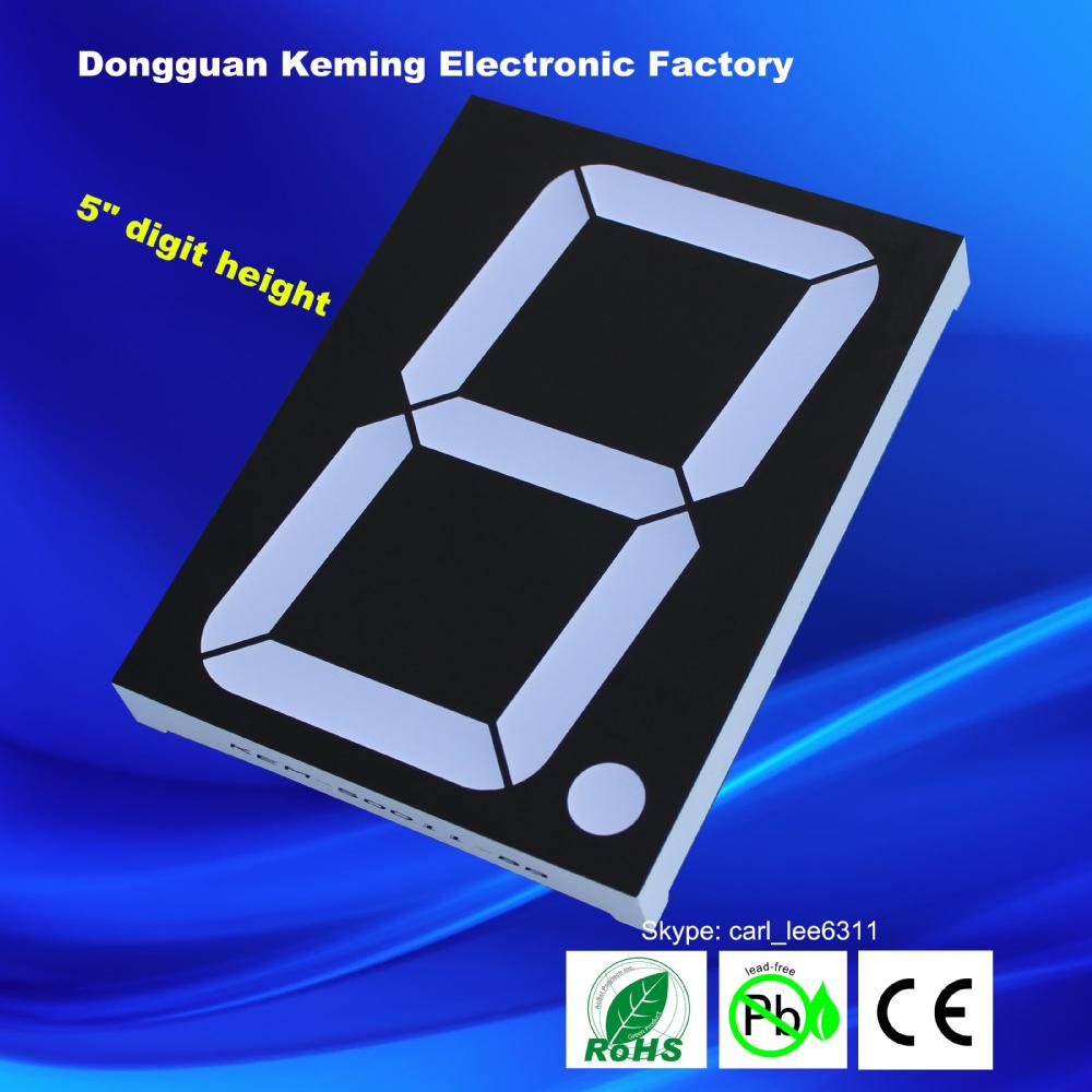 Dongguan bright led single 1 digit 5 inch big led 7 segment display