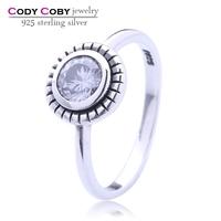 Hot sale Fashion Luxury Women Party Jewelry 925 sterling Silver 3A ZC Cubic Zircon Female Wedding Finger Flower Rings
