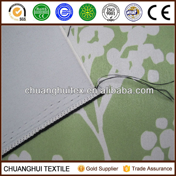 2013 NEW ARRIVAL environmental surface and slight bright silk blackout window curtain fabric