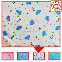 Printed cotton flannel for baby diaper