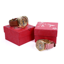 whole sale professional printing gift-wrapped large size watch box natural specialty paper watch box