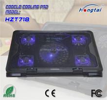 Five fans laptop cooler stand height adjustable ergonomic foldable design