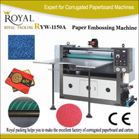 RYW1150A korea cosmetic packing box cover paper embossing machine