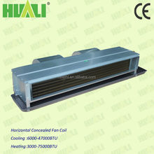 Huali ceiling concealed fan coils price, chilled water fan coil units
