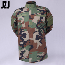 Military Woodland Printed Combat Fabric US Army Military Uniform Clothing