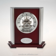 cheap clocks with white clock face brass skeleton movement