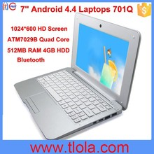 OEM Cheap 7 inch Androir Netbook with Bluetooth WIFI 701Q