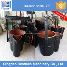 1.5 tons foundry ladle, bottom and lip pouring ladle, Grey Iron casting ladle