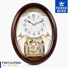 decorative pendulum wall clock, plastic wall clock with music , glass wall clock PW6132