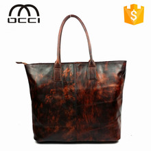 Unique Pattern Custom Logo fashion women handbag 2016 new product high quality leather bag QY1304