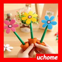 UCHOME Creative sun flower shape ballpoint pen/flower pot shape pen