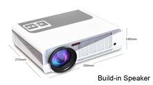 El más reciente 2015 3000 lúmenes 1080P Proyector Android4.2 WiFi 3D Smart Home Theater proyector LED Full HD de vídeo