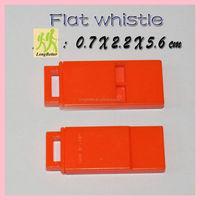 Colorful flat custom wholesale plastic emergency whistle in bulk
