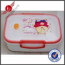 Rectangle Red Edge Transparant 2 Departments Eco-friendly Kids Lunch box For Health Food
