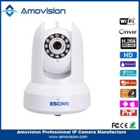 Escam H.264 Cat QF300 1.0MP CMOS connect the network cable and power adapter p2p camera