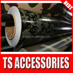 TSAUTOP RoHS certificate 1.52*30m air Free bubbles camouflage car adhesive glue