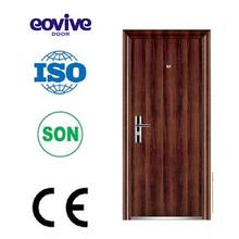 Ce certificado hermoso diseño de una sola hoja de la puerta de acero, puerta de metal, puerta de hierro