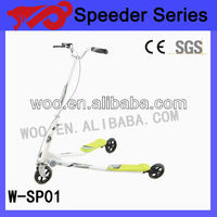 2014 Adjustable folding adult kick scooter,swing scooter,3 wheel scooter