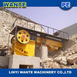 2015 High quality and low price cost of a 100 ton rock crusher with large capacity