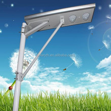 Solar panel/battery/controller/led light all-in-one epistar chip solar wind combined street light
