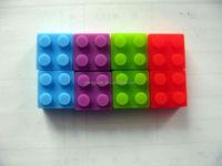 cheap custom logo promotional gift plastic block usb flash memory