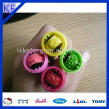 Colorful handy kids roller self inking stamp pen