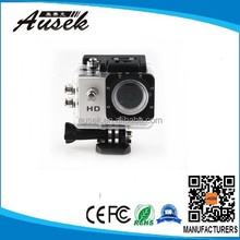 black/blue/white/red/silver/golden/yellow seven kinds color optioanl waterproof 720p action camcorder from factory
