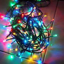 Wholesale Transparent Wire AC110V 100 leds RGB LED Christmas Decoration Lights
