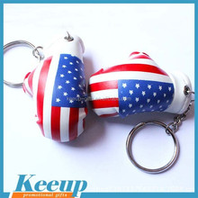Mini America flag boxing glove keyring for ornament