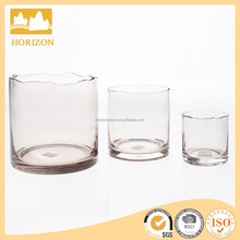 mouth blow hurricane lamp candle holders with different sizes