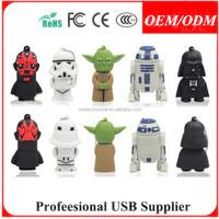 Free shipping,Cartoon Star Wars USB 2.0 Memory Stick Flash pen Drive 4GB 8GB 16GB 32GB