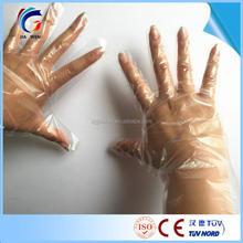 Trade Ensurance Disposable plastic glove,polythene pe hairdresser gloves