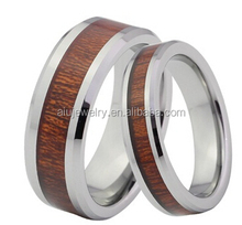 2015 newest fashion Petrified Wood Wedding Ring