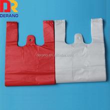 2014 HDPE Color Cheap Custom Printed Plastic T shirt Bags