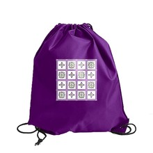 Foldable Nylon Light Cheap Polyester Drawstring Backpack,Drawstring Bag