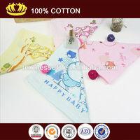100% cotton soft No loop soft health printed cartoon small baby towel