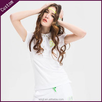 Custom high quality new design polo t-shirts for women