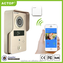 Shenzhen 2015 new arrival wifi android video door phone door bell intercom systems (App can be run in Android and IOS)
