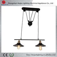 2015 Christmas sale of popular black pulleys adjustable halogen bar pendant lamp