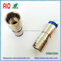 Springconnect F type compression connector male plug for RG6 Coaxial Cable like CX3