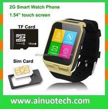 2G GSM smart watch phone with camera bluetooth wristwatch for ios android mobile