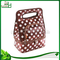 wholesale polk dot multi layer lunch bags picnic bag