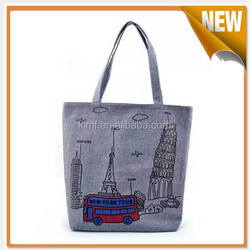 Eco friedly shopping printed canvas bag