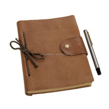 8081B Lichee Pattern Genuine Leather Daily Journals Notebook For Men and Women