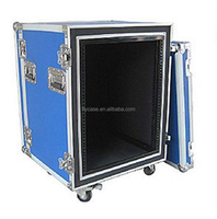 New large heavy duty black ABS aluminum flight case with tools