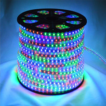 Hot selling cheap factory price waterproof SMD 5050 strip 220v led rgb lights for home made in china
